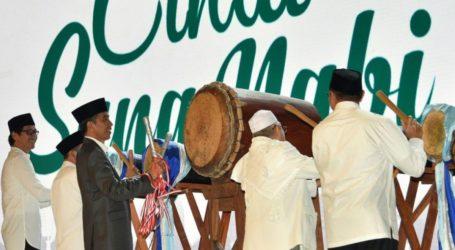 Jokowi Buka Festival Sholawat Nusantara Piala Presiden