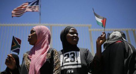 Partai Komunis Afsel Demo Dukung Palestina di Depan Konsulat AS