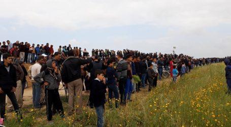 IDF: Lebih 30.000 Warga Palestina Demo di Perbatasan Gaza