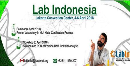Uji Halal di Pameran Lab Indonesia 2018