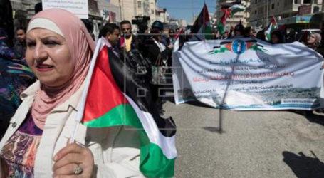 Warga Palestina Peringati Hari Perempuan Internasional