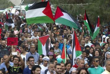Pengungsi Palestina Lakukan Aksi Gerakan Kembali