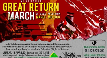 AWG Semarang Gelar Long March GRM Palestina