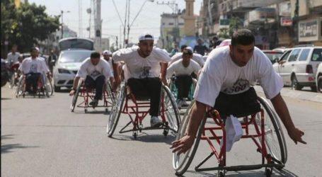 Palestina Peringati Hari Narapidana, di Gaza Adakan Lomba Marathon Kursi Roda