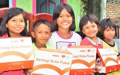 Rumah Zakat Adakan Buka Puasa di Desa Indrayaman Sumut