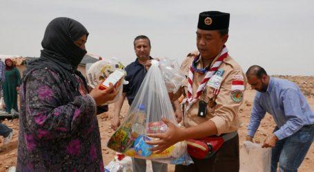 Relawan Pramuka Buka Puasa Bersama Pengungsi Palestina di Yordania