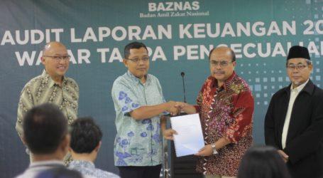 Audit Keuangan BAZNAS Raih Predikat Wajar Tanpa Pengecualian