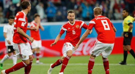 Kalahkan Mesir 3-1, Rusia Negara Pertama yang Lolos ke 16 Besar