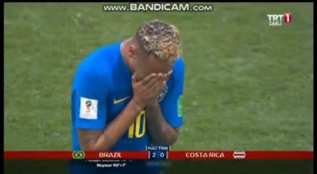 Neymar Menangis Sesegukan Usai Brasil Bungkam Kosta Rika 2-0
