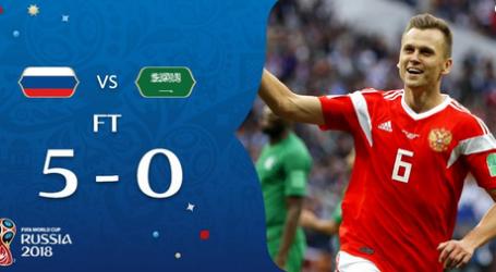 Laga Pembuka Piala Dunia 2018, Rusia Gemilang Tekuk Saudi 5-0