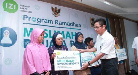 YBM PLN Pusmankon Salurkan Bantuan untuk Muslimah Berdaya