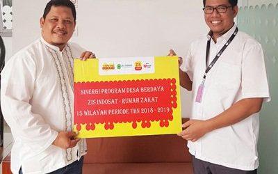 ZIS Indosat Bersama Rumah Zakat Bina 15 Titik Desa Berdaya