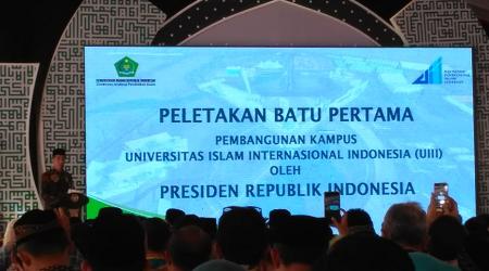 Pemerintah Mulai Bangun Infrastruktur Universitas Islam Internasional Indonesia