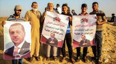 Gaza Rayakan Kemenangan  Erdogan