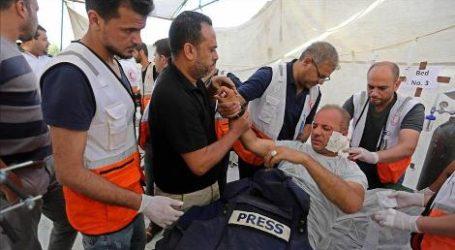 Sebanyak 55 Jurnalis Terluka Selama Liput Aksi Protes di Gaza