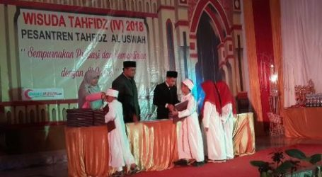 230 Santri Pesantren Tahfizh Al Uswah Gelar Wisuda di Cianjur