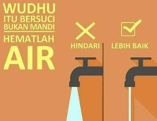 Wudhu Hemat Air Sesuai Sunnah Rasul (Oleh: Dr. Hayu S. Prabowo)