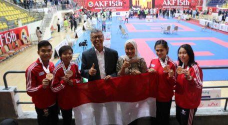 Indonesia Raih 5 Medali pada Kejuaraan Karate Asia di Yordania