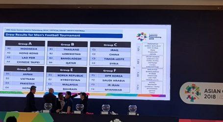Hasil Undian Tujuh Cabang Olahraga Beregu Asian Games 2018