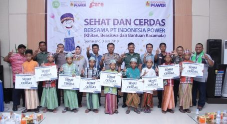 Semarakkan Liburan Sekolah, Indonesia Power Adakan Khitan Massal