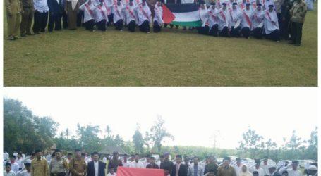 Paskibra Al-Fatah Lampung Kibarkan Bendera Palestina