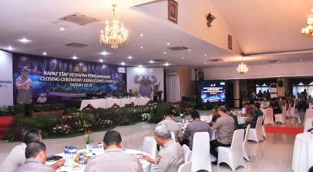 PanglimaTNI Harapkan Penutupan Asian Games 2018 Berjalan Lancar