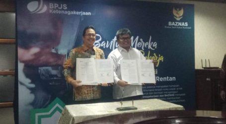 Bantu Pekerja Rentan, BAZNAS bekerjasama dengan BPJS Ketenagakerjaan