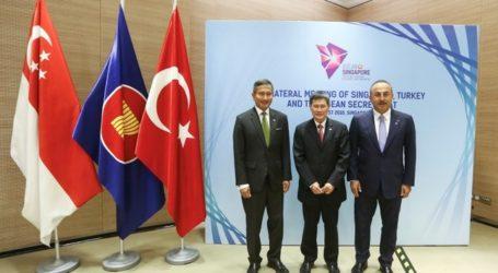 Menlu. Turki Adakan Pertemuan dengan Presiden dan Sekjen.  ASEAN