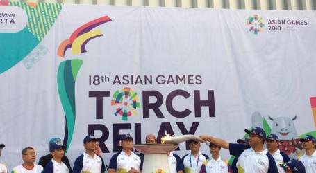 Kirab Obor Asian Games 2018 Tiba di Balai Kota DKI Jakarta