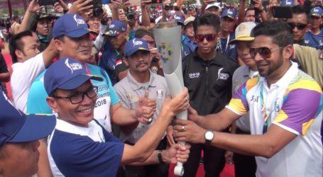 Kirab Obor Asian Games Lintasi Banyuasin