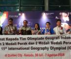 Siswa SMA Indonesia Raih 2 Perak, 2 Perunggu pada IGeo 2018