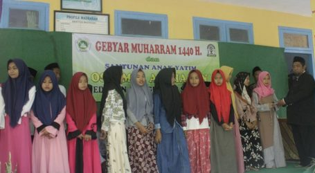 MTs Al-Hasan Gebyar Muharram dan Santuni Anak Yatim
