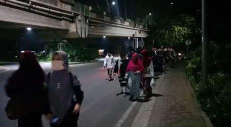 Ratusan Muslimah Dalam Gerak Jalan Cinta Al-Aqsha