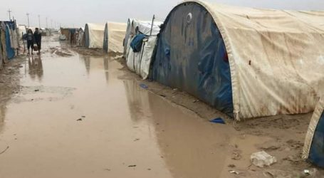 Kamp Pengungsi Suriah Banjir, Enam Orang Meninggal