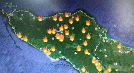 Tiga Titik Api di Aceh Terpantau Satelit BMKG