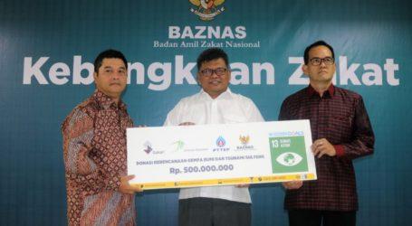 PTTEP dan Jembayan Percayakan Donasi Sulteng Melalui BAZNAS