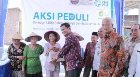 YBM PLN UID Jateng Aksi Bahagia Bagi 1.000 Sembako di Kampung Nelayan