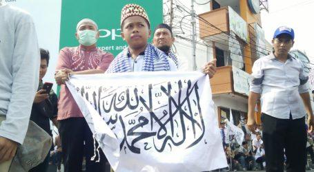 Ribuan Masa FUIB Lampung Gelar Aksi Bela Kalimat Tauhid