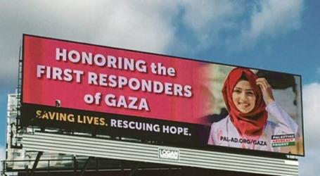 Papan Reklame untuk Menghormati Pahlawan Medis di Gaza