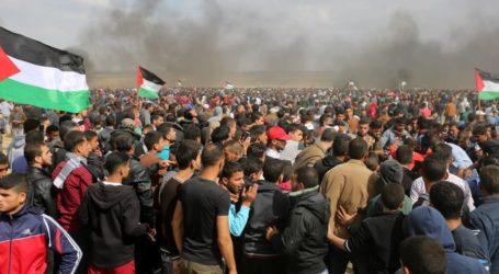 Warga Gaza Lakukan Aksi Peringati Intifada Al-Quds
