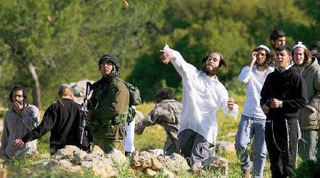 Pelemparan Batu oleh Pemukim Ilegal Israel