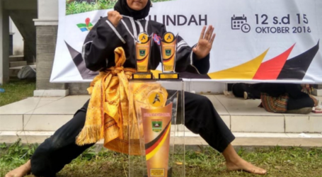 Siswi MTsN 1 Payakumbuh Juara Satu Festival Silat International