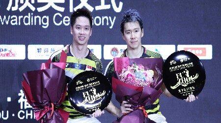 Menang Dramatis, Kevin/Marcus Juara Fuzhou China Open 2018