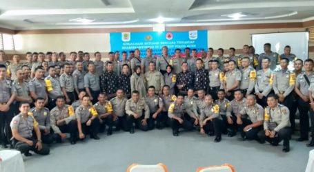 Polda Aceh Sosialisasikan Mitigasi Bencana Kepada Anggota