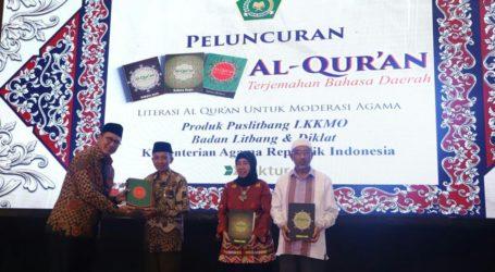 Al-Quran Terjemah Tiga Bahasa Daerah Resmi Diluncurkan