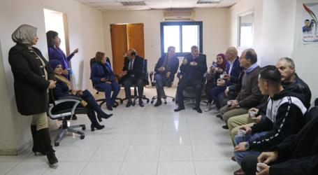 Pejabat Kementerian Informasi Palestina Kunjungi Kantor Wafa Pasca Penyerbuan Israel
