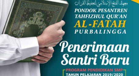 Pesantren Tahfidz Qur'an Al-Fatah Purbalingga Terima Santri Baru