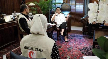 Menlu Retno Bertemu Tim MER-C Bahas Perkembangan Pembangunan RSI di Myanmar