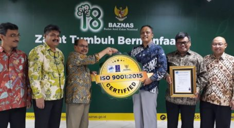 Baznas Kembali Raih Sertifikat ISO 9001:2015