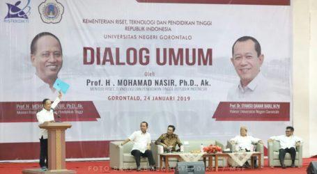 Menristekdikti Resmikan Gedung Baru Universitas Negeri Gorontalo